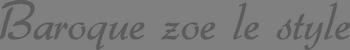 巴洛克zoe新娘秘書 logo