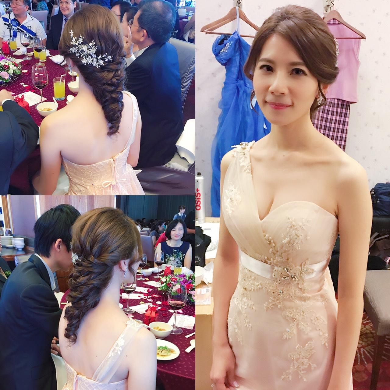 新娘秘書, 新娘造型, 韓系, 鮮花造型, 光澤肌, 歐美, 清新自然, 時尚, 編髮